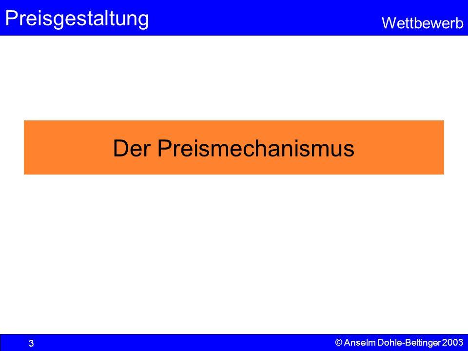 Der Preismechanismus © Anselm Dohle-Beltinger 2003