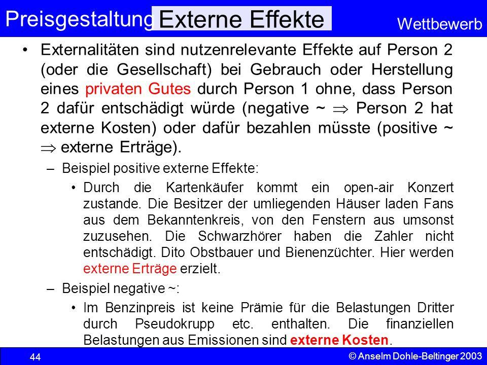Externe Effekte