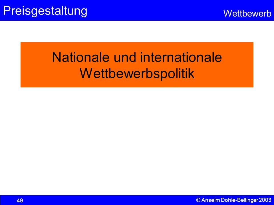 Nationale und internationale Wettbewerbspolitik