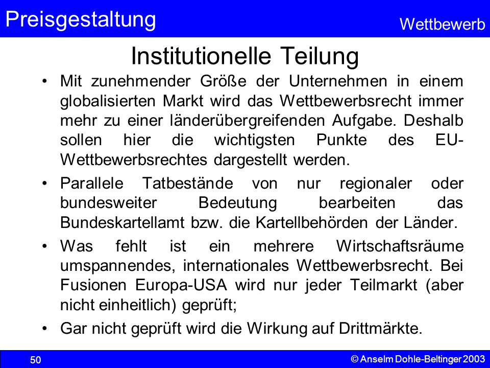 Institutionelle Teilung