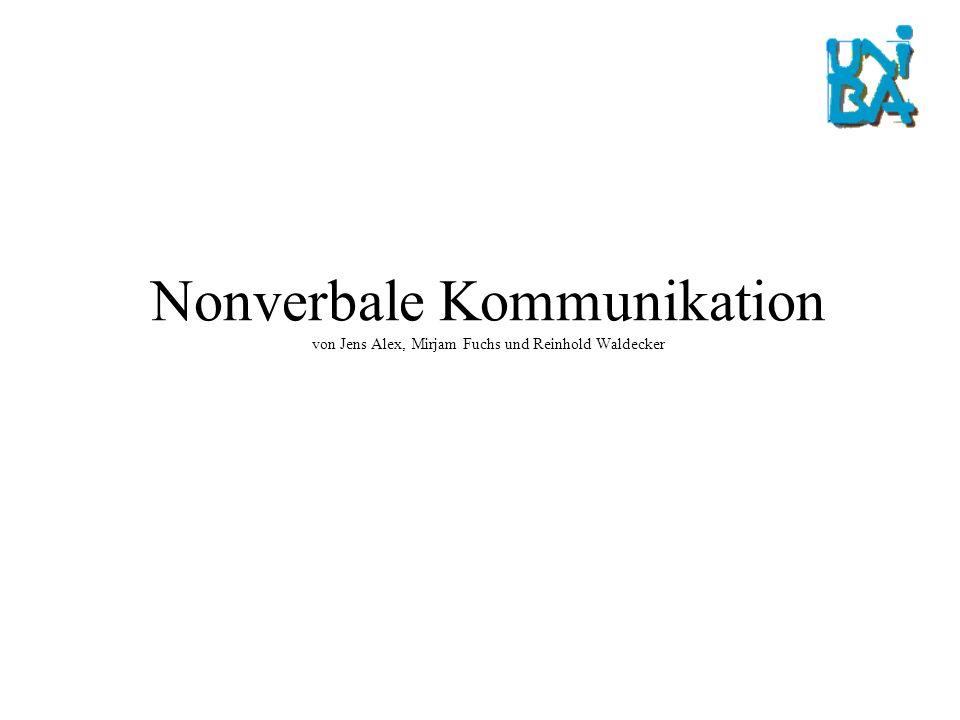 Nonverbale Kommunikation von Jens Alex, Mirjam Fuchs und Reinhold Waldecker
