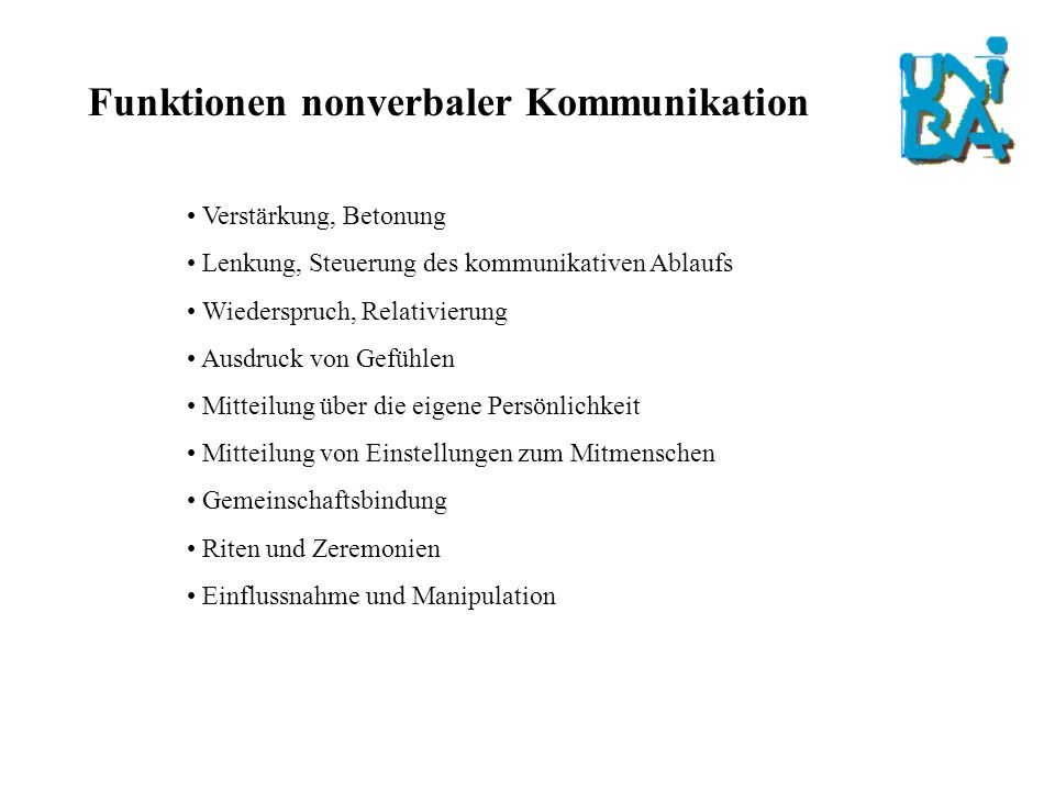 Funktionen nonverbaler Kommunikation