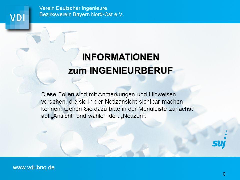 INFORMATIONEN zum INGENIEURBERUF