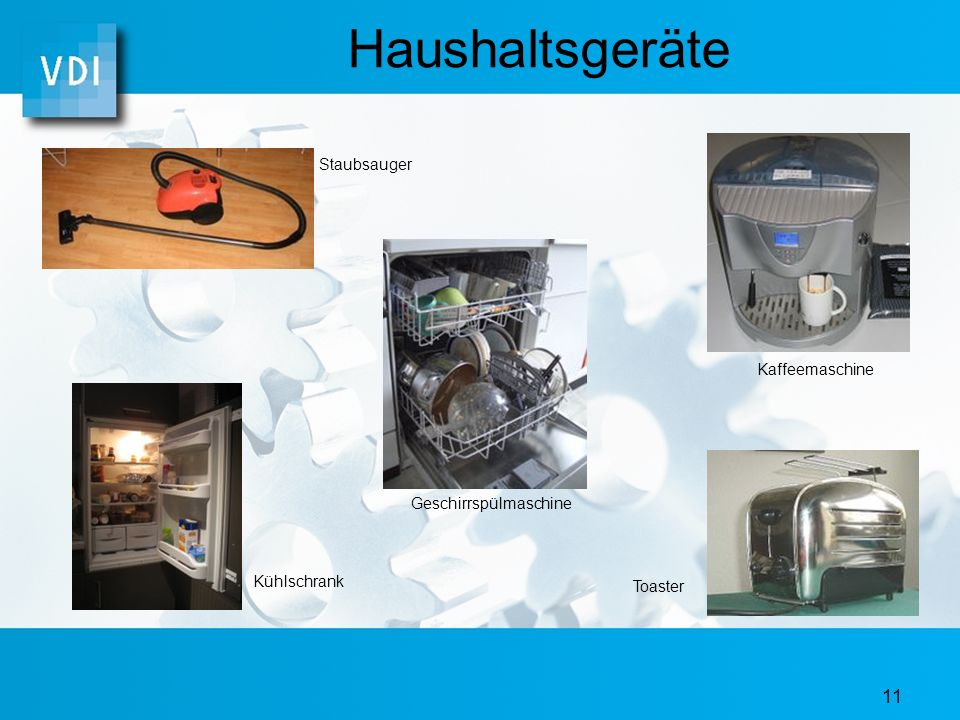 Haushaltsgeräte Staubsauger Kaffeemaschine Geschirrspülmaschine
