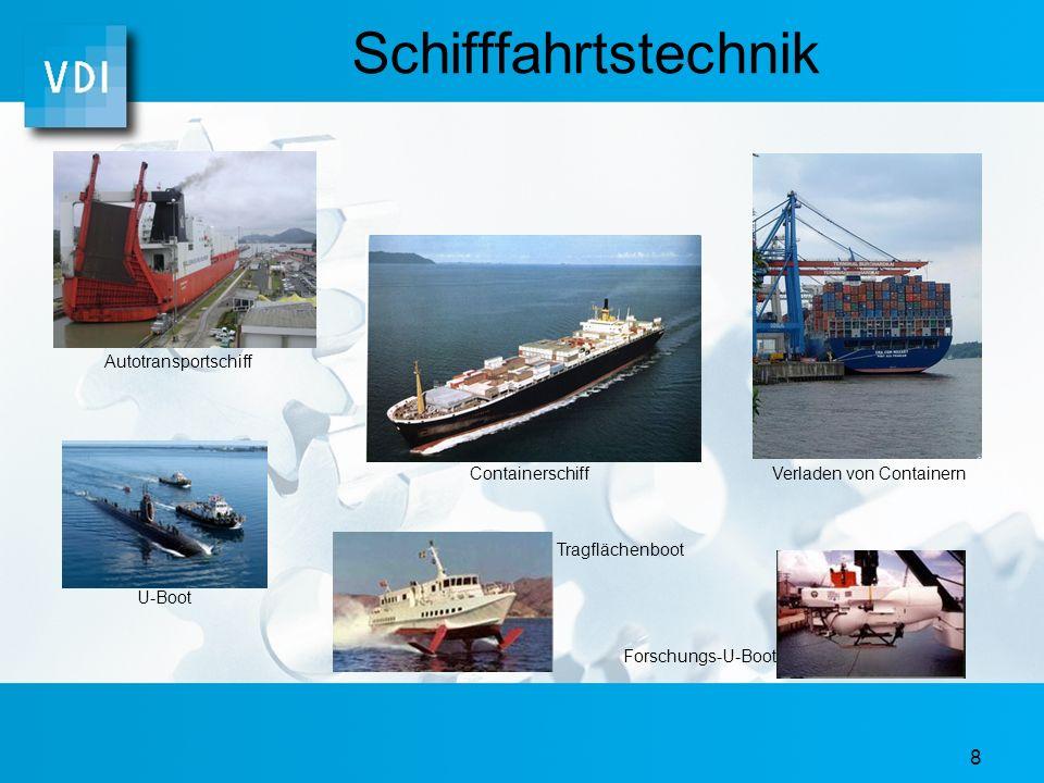 Schifffahrtstechnik Autotransportschiff Containerschiff