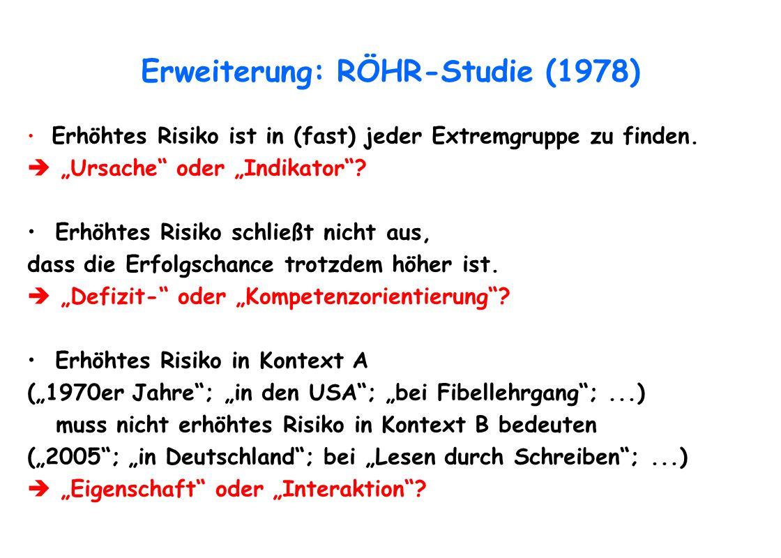 Erweiterung: RÖHR-Studie (1978)