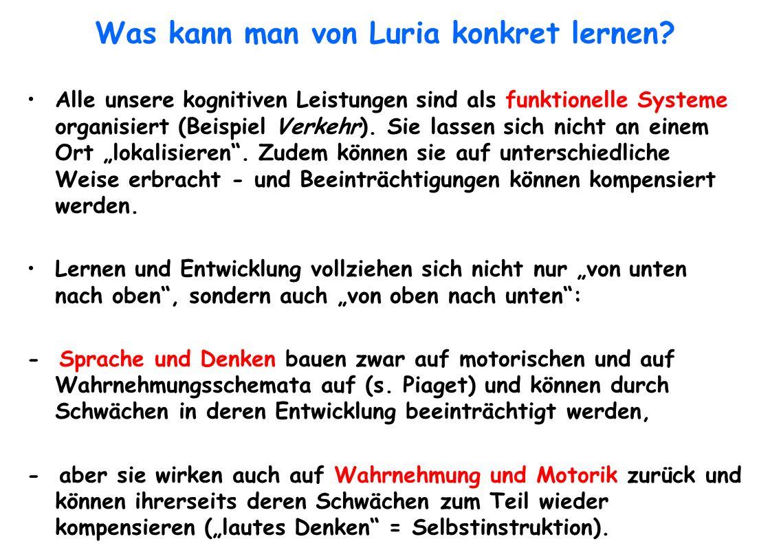 Was kann man von Luria konkret lernen