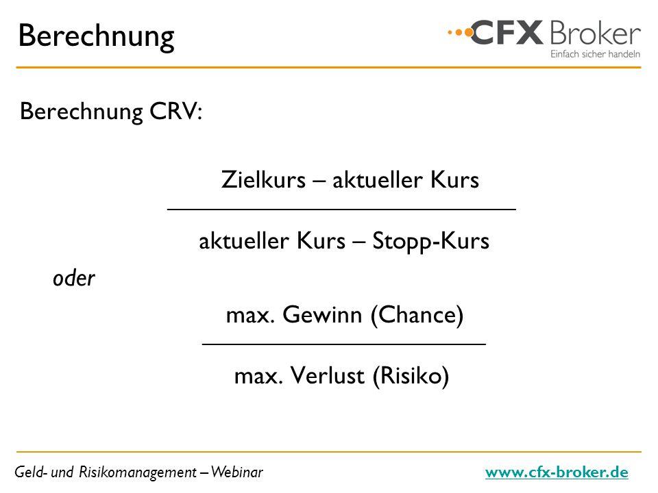 Berechnung Berechnung CRV: _____________________________________