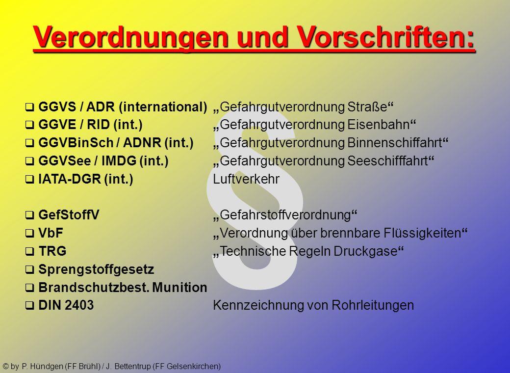 § Verordnungen und Vorschriften: