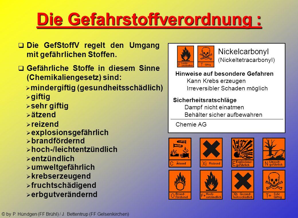 Die Gefahrstoffverordnung :