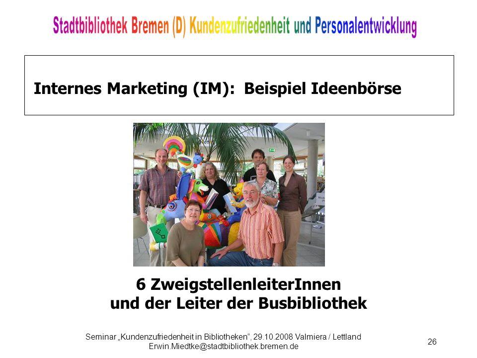 Internes Marketing (IM): Beispiel Ideenbörse