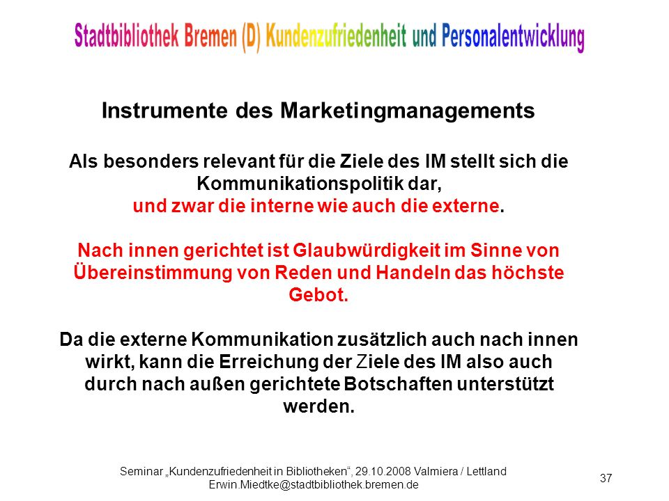 Instrumente des Marketingmanagements