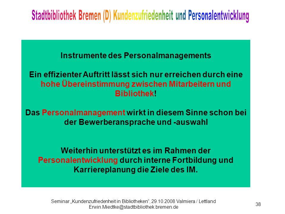 Instrumente des Personalmanagements