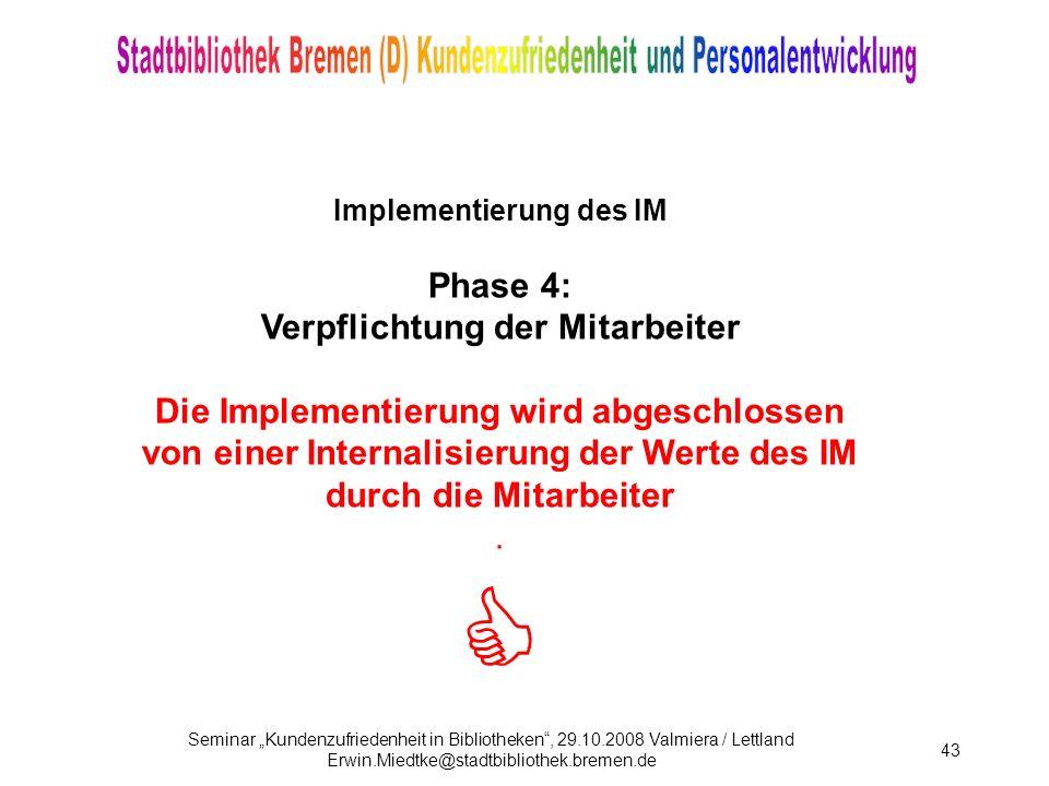 Implementierung des IM