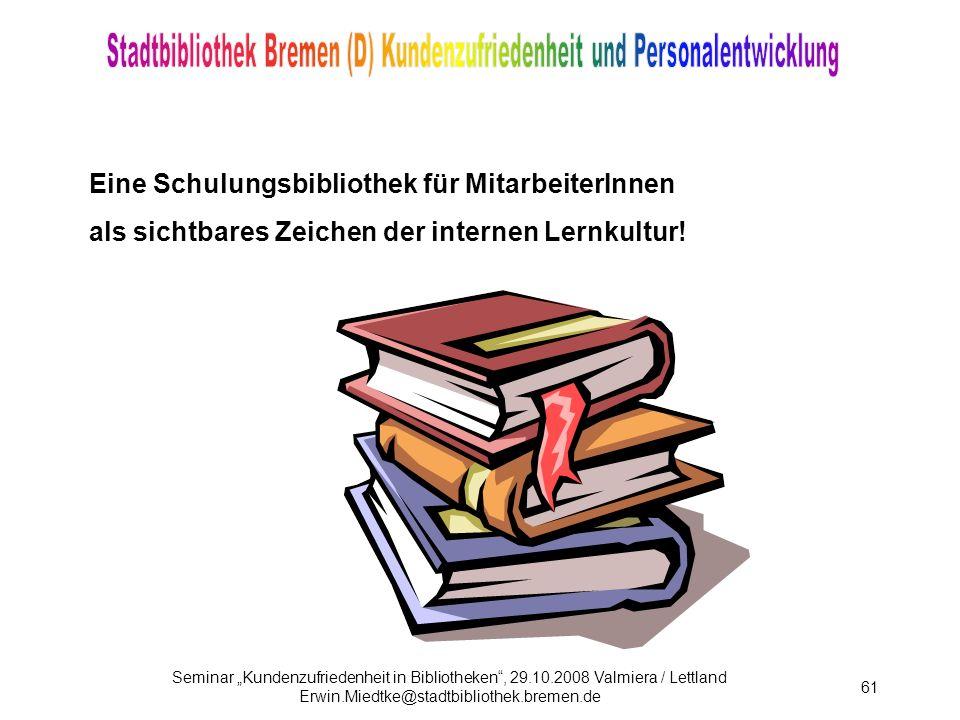 Eine Schulungsbibliothek für MitarbeiterInnen