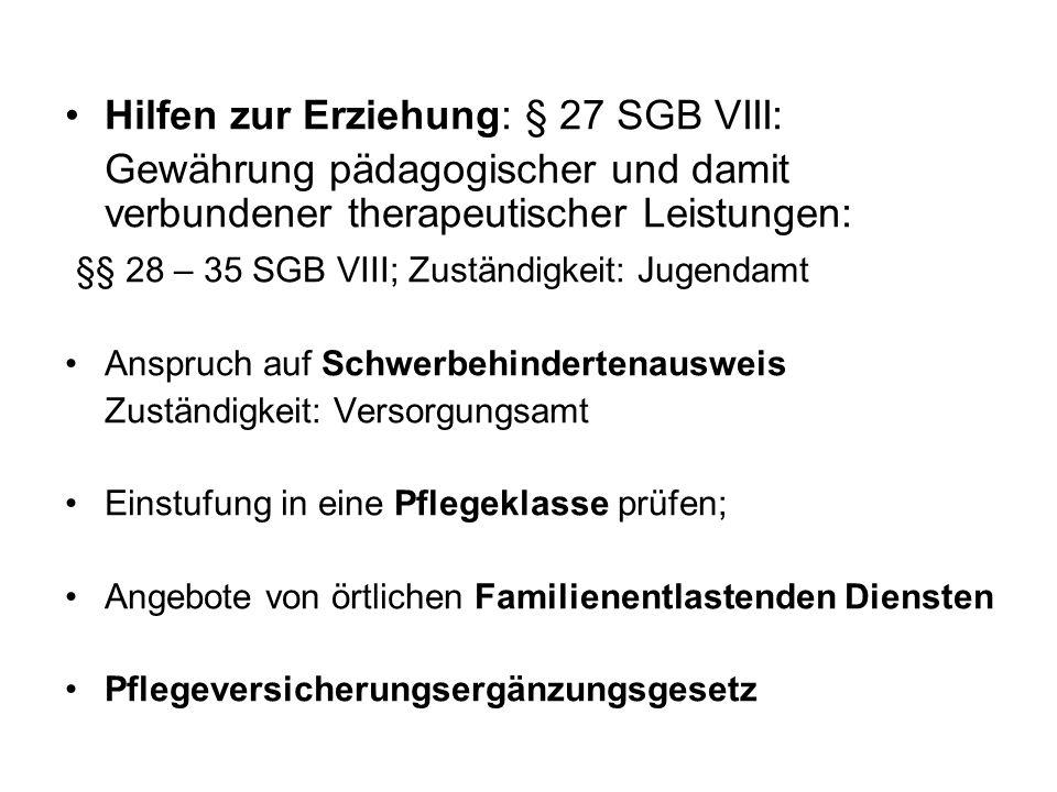 Hilfen zur Erziehung: § 27 SGB VIII: