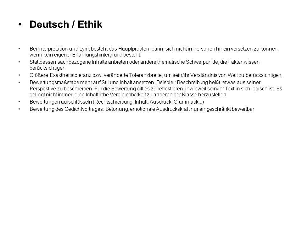 Deutsch / Ethik
