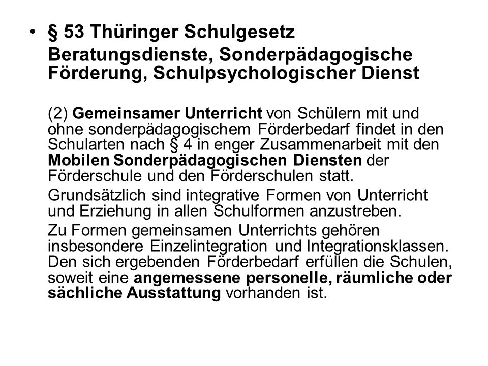 § 53 Thüringer Schulgesetz