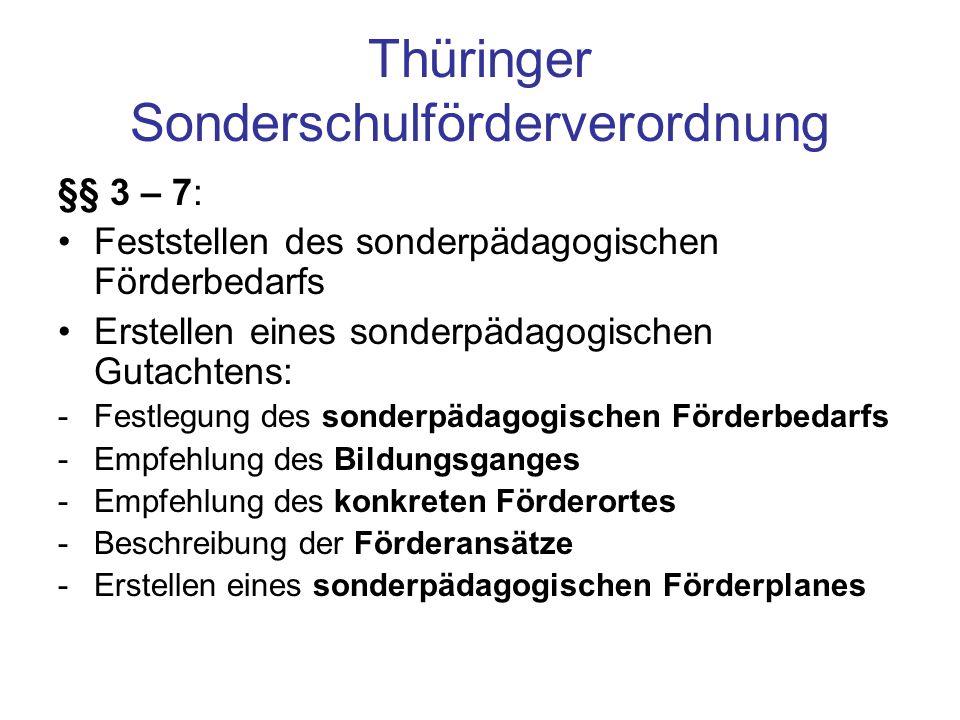 Thüringer Sonderschulförderverordnung