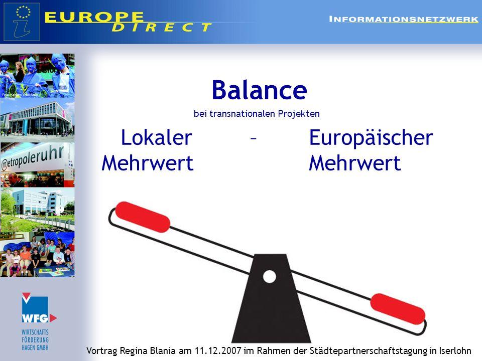 Lokaler – Europäischer Mehrwert Mehrwert