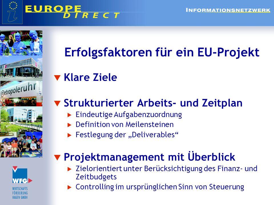 Erfolgsfaktoren für ein EU-Projekt