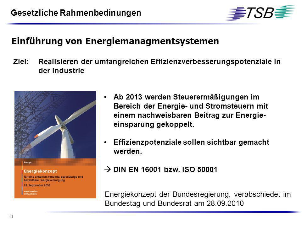 Einführung von Energiemanagmentsystemen