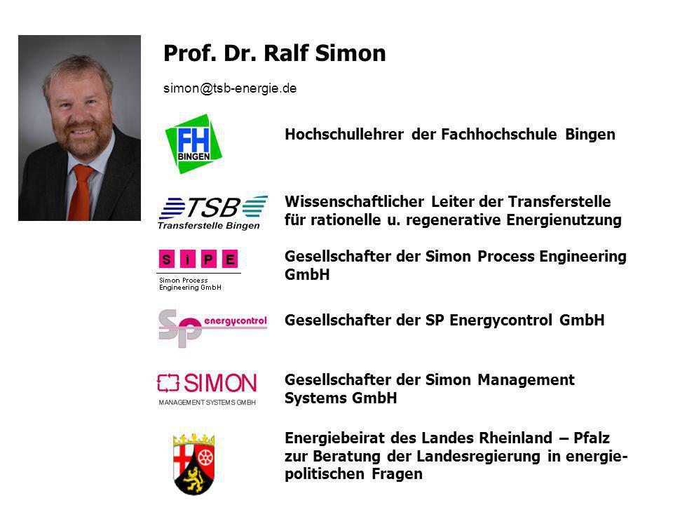 Prof. Dr. Ralf Simon Hochschullehrer der Fachhochschule Bingen