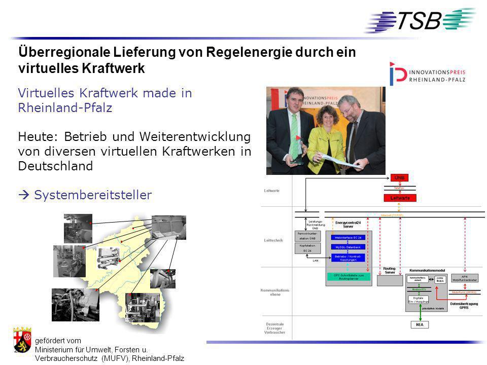 Überregionale Lieferung von Regelenergie durch ein