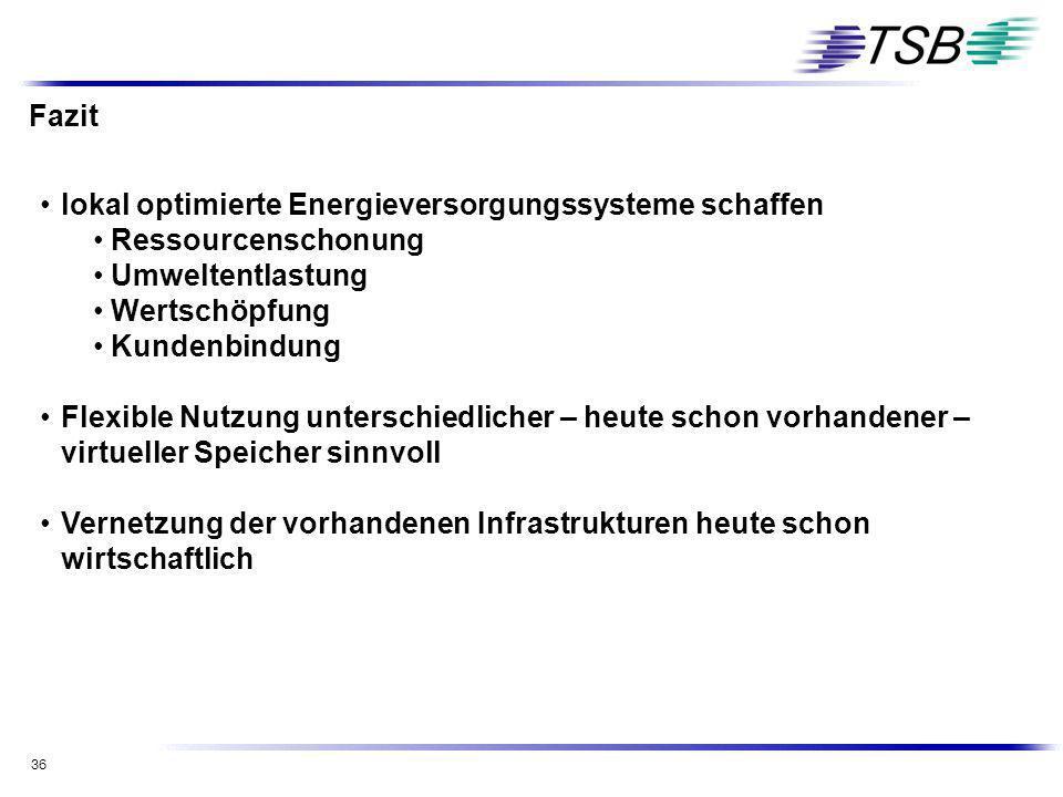 Fazit lokal optimierte Energieversorgungssysteme schaffen. Ressourcenschonung. Umweltentlastung. Wertschöpfung.