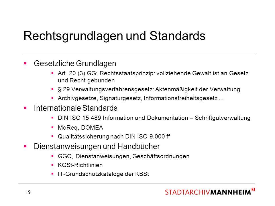 Rechtsgrundlagen und Standards