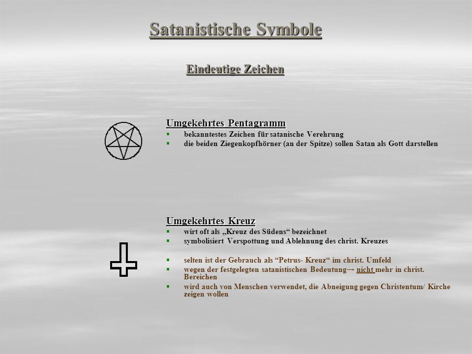 Satanistische Symbole Eindeutige Zeichen