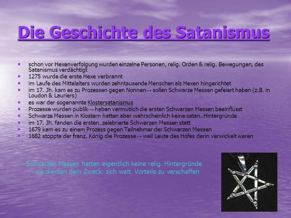 Die Geschichte des Satanismus