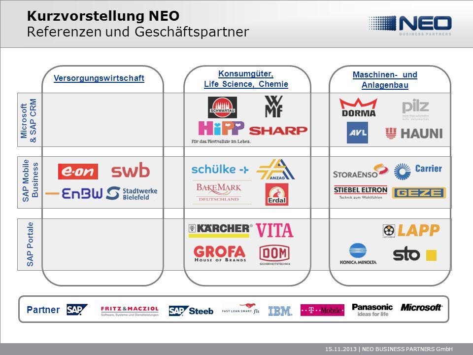 Kurzvorstellung NEO Referenzen und Geschäftspartner