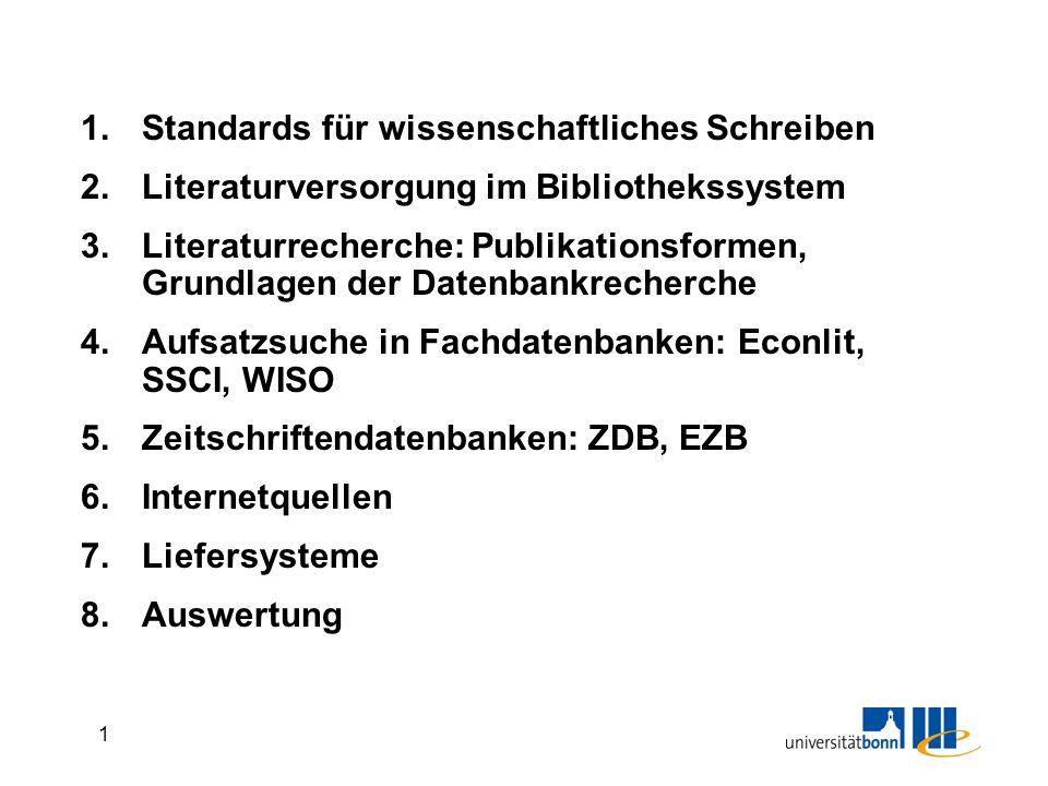 Standards für wissenschaftliches Schreiben