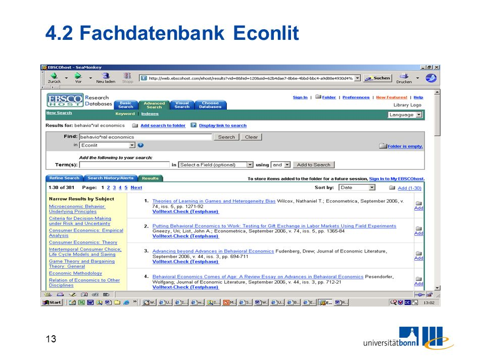 4.2 Fachdatenbank Econlit