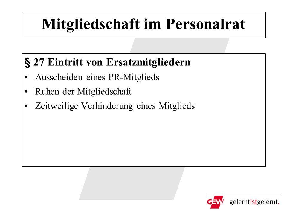 Mitgliedschaft im Personalrat