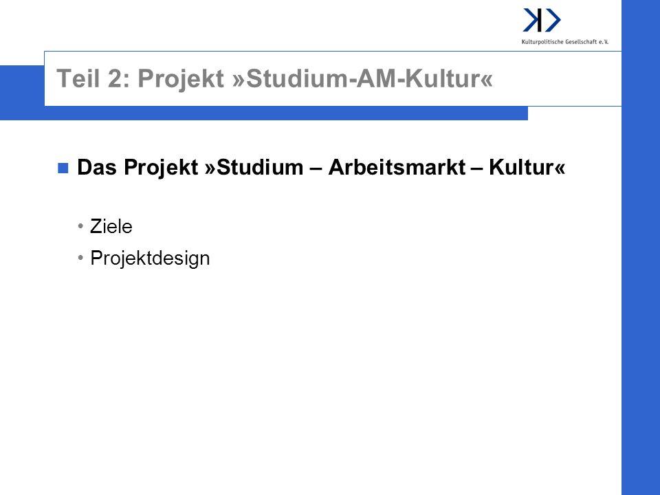 Teil 2: Projekt »Studium-AM-Kultur«