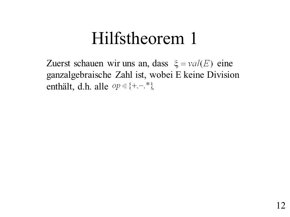 Hilfstheorem 1