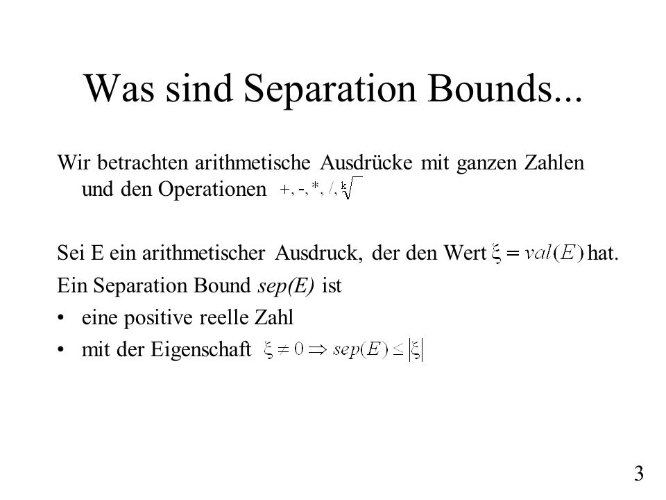 Was sind Separation Bounds...