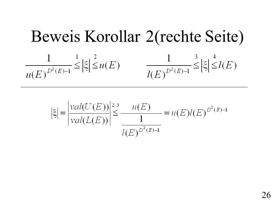 Beweis Korollar 2(rechte Seite)