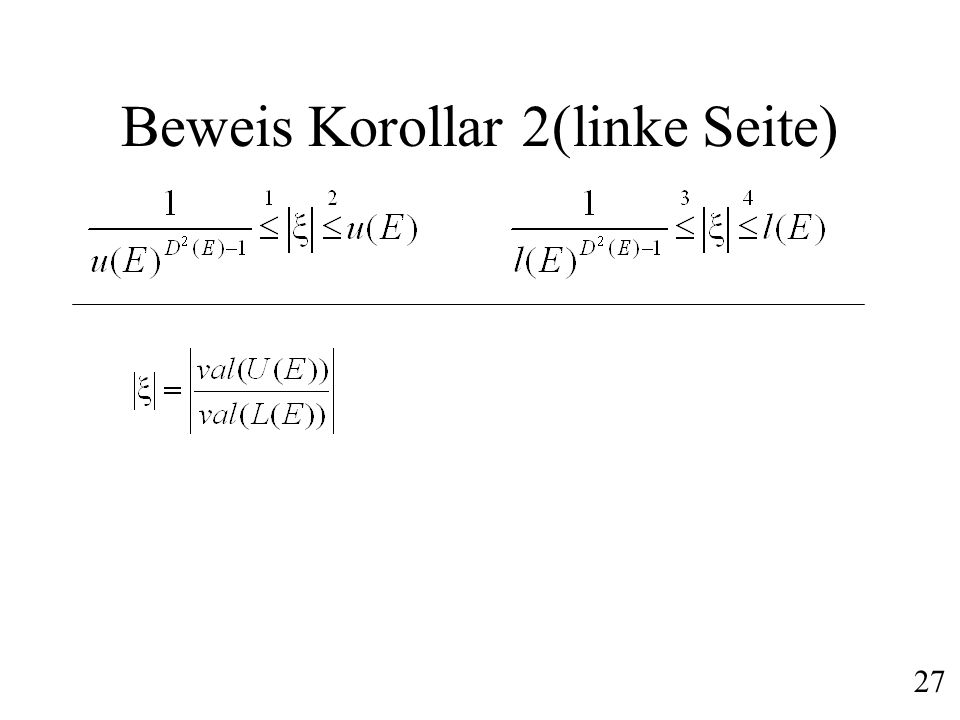 Beweis Korollar 2(linke Seite)