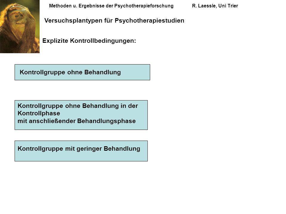 Versuchsplantypen für Psychotherapiestudien