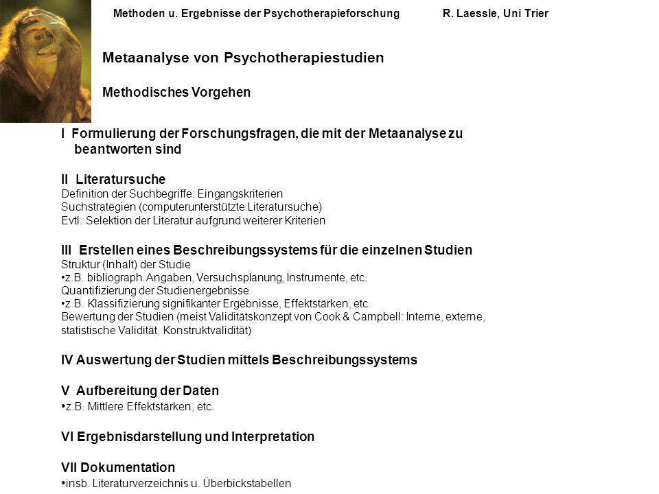 Metaanalyse von Psychotherapiestudien