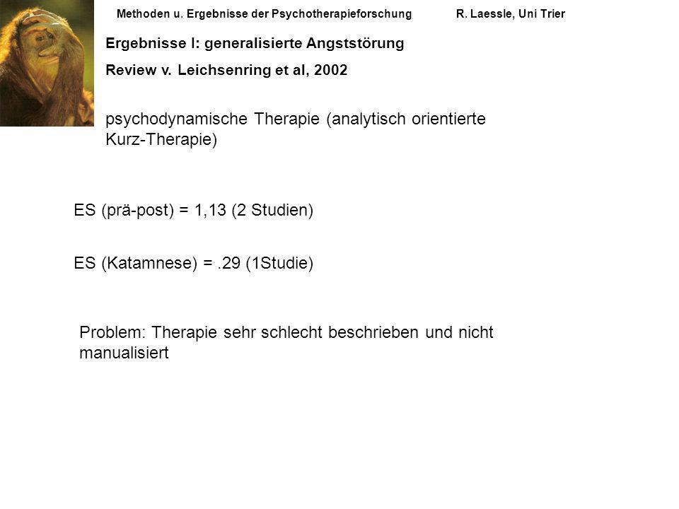 psychodynamische Therapie (analytisch orientierte Kurz-Therapie)