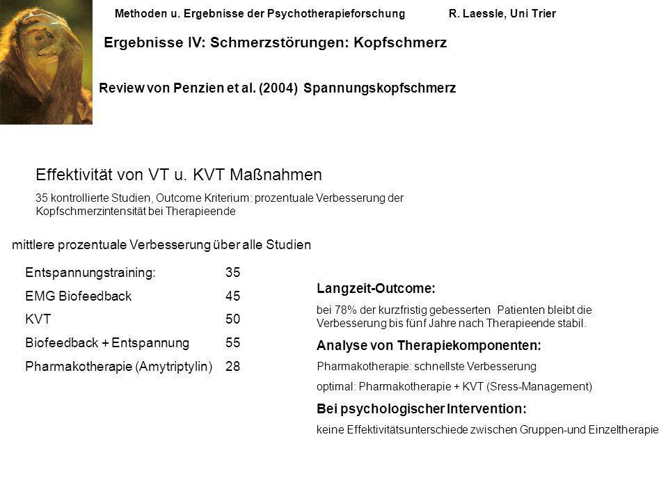 Effektivität von VT u. KVT Maßnahmen