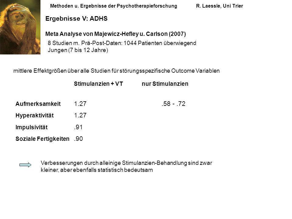 Stimulanzien + VT nur Stimulanzien