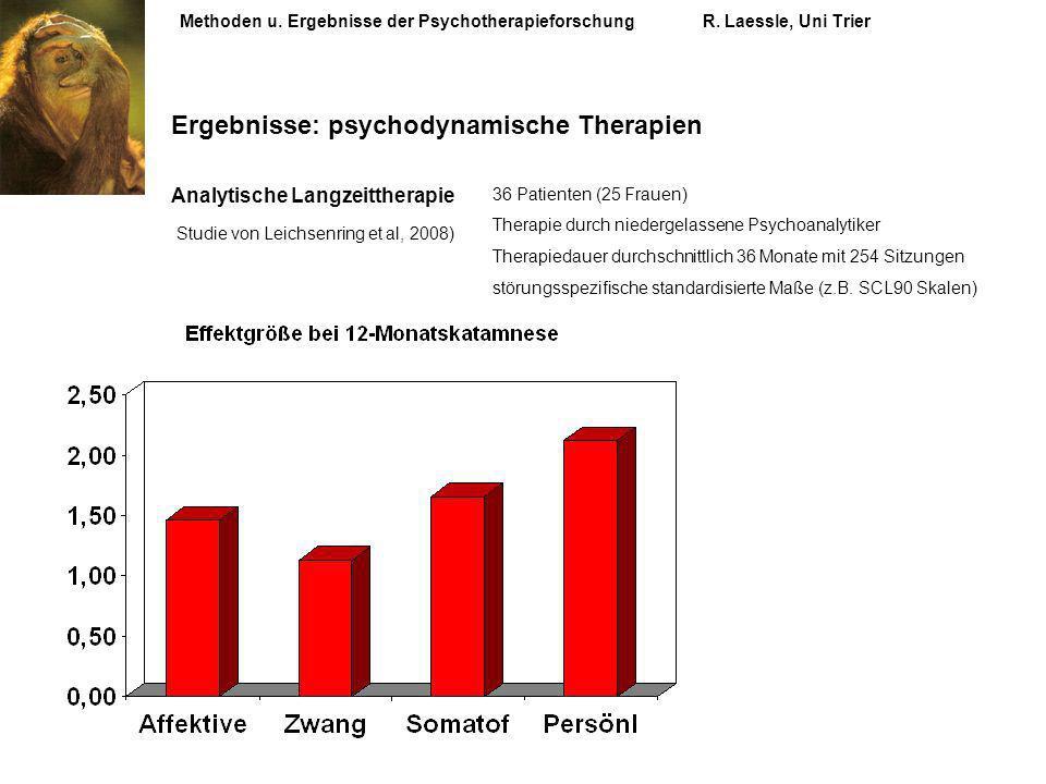 Ergebnisse: psychodynamische Therapien