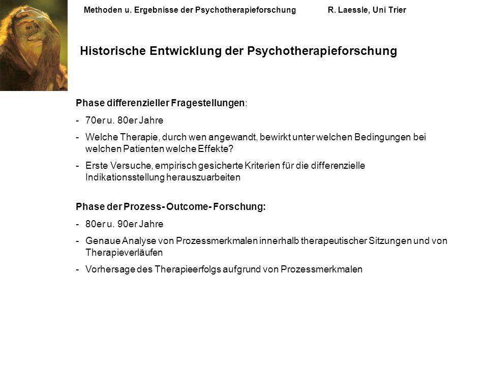 Historische Entwicklung der Psychotherapieforschung