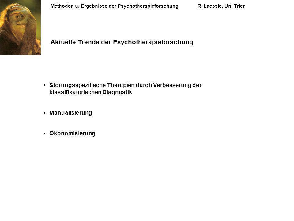 Aktuelle Trends der Psychotherapieforschung