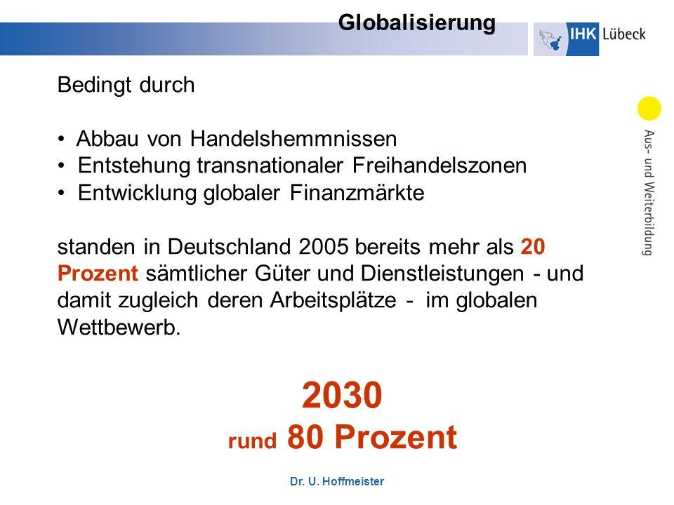 2030 Globalisierung Bedingt durch Abbau von Handelshemmnissen